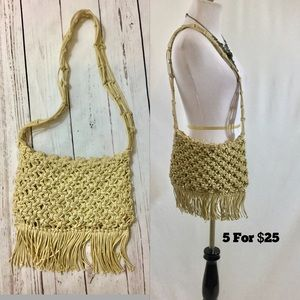 Woven Fringe Shoulder Bag BOHO